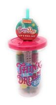 Nickelodeon Sunny Day Tumbler with Straw ~ Bonus Lip & Nail Set - £11.30 GBP