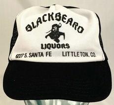 Vtg BLACKBEARD LIQUORS Trucker Hat-Littleton CO-Floppy Front-Mesh-Snapback - $23.36