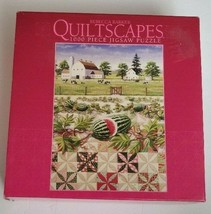 Quiltscapes By Rebecca Barker 1000 Piece Jigsaw Puzzle Watermelon Patch Farm NEW - $18.69