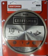 "Craftsman 37664 10"" Continuous Rim Diamond Saw Blade - $25.74"