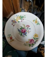 """THEODORE HAVILAND NY, """"GLENDALE"""" 7 1/2 SOUP BOWLS (12),FLORAL W/GOLD - $29.65"""