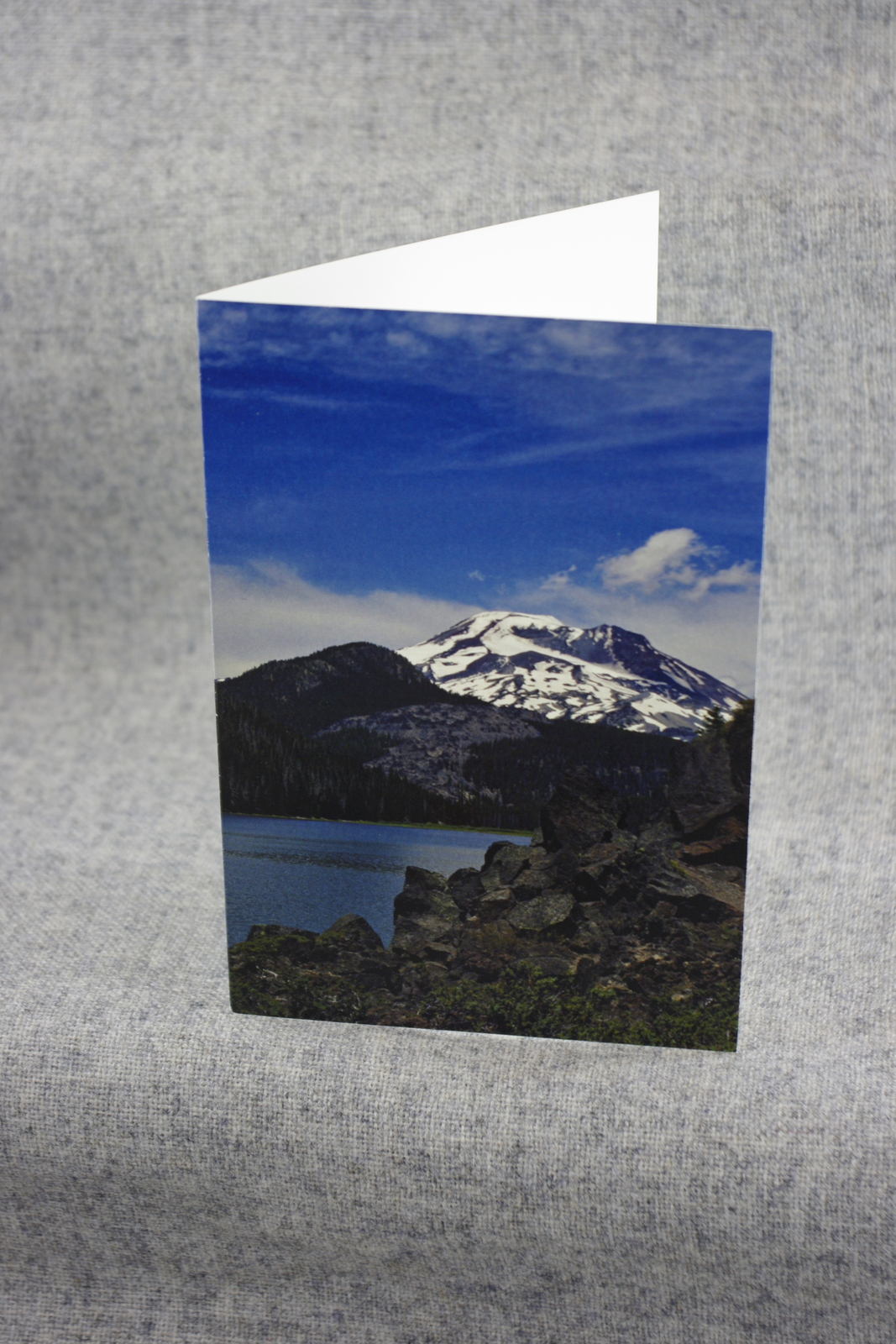 Primary image for Photo Notecards South Sister mountain at Sparks Lake Oregon 4x6 Blank Notecards