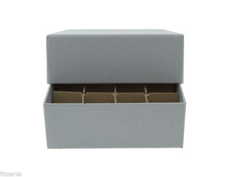 Guardhouse Grey Coin Tube Box with 40 Small Dollar Numis Square Coin Tubes
