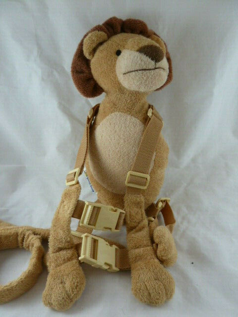 Primary image for Kids Back pack Harness Safety Walking Leash by Gold Bug Lion plush