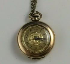 vtg WADSWORTH RELGIS HELBROS W & CO 15j 10k GOLD FILLED POCKET WATCH Swiss rare image 1