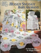 Huggy Snuggy Baby Afghans American School of Needlework 1205 1995 6 Designs - $10.39