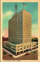 Wichita Kansas Ks Allis Hotel Unp Vtg Lino Cartolina Curt Teich. Non Usato - $2.94