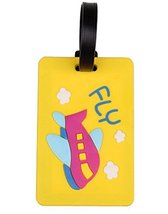 Set Of 2 Fashional Luggage Tag Bag Tags Silicone Name Tag Travel Tag [Yellow]