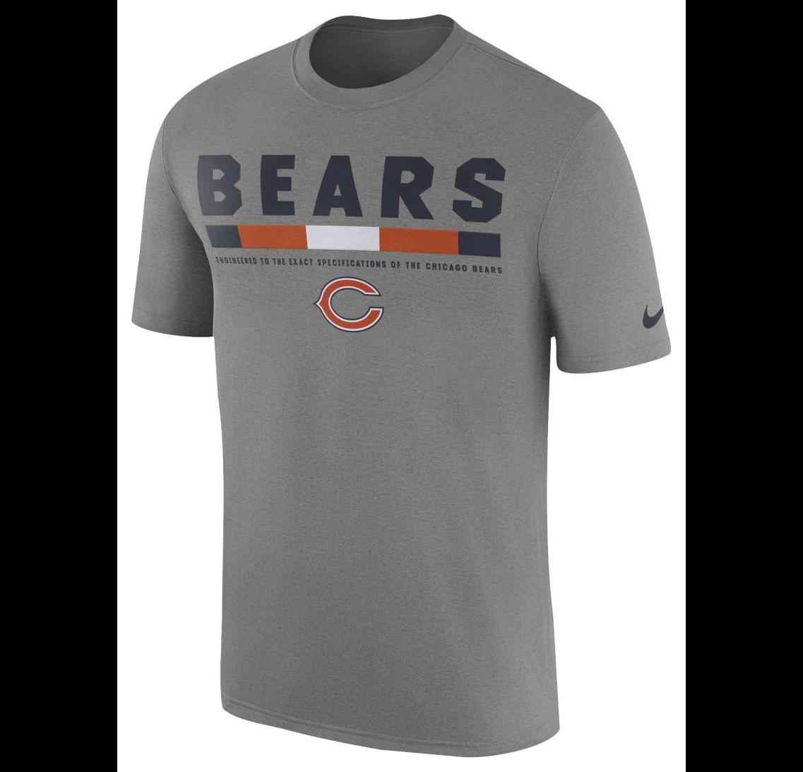 13a9b8d2 57. 57. Previous. Chicago Bears Men's Nike Legend Staff DRI-FIT T-Shirt ...
