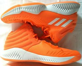 adidas SM Mad Bounce Mens 12.5 D97371 Basketball Shoes Orange & White 2018 image 6