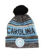 Carolina C Patch Fade Out Cuffed Knit Winter Pom Beanie Hat (Black/Aqua) - $11.95