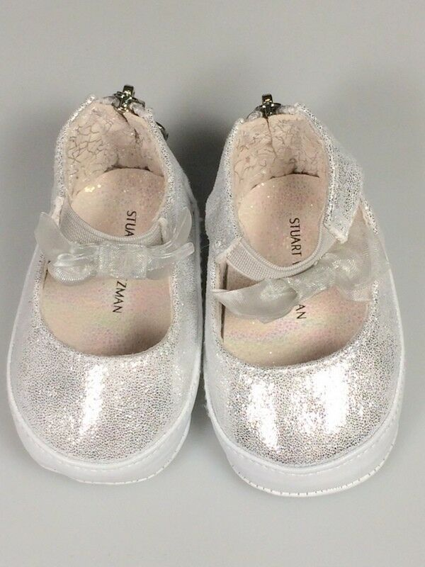 size 2 Girls baby shoes Stuart Weitzman bow baby picture outfit church shoes