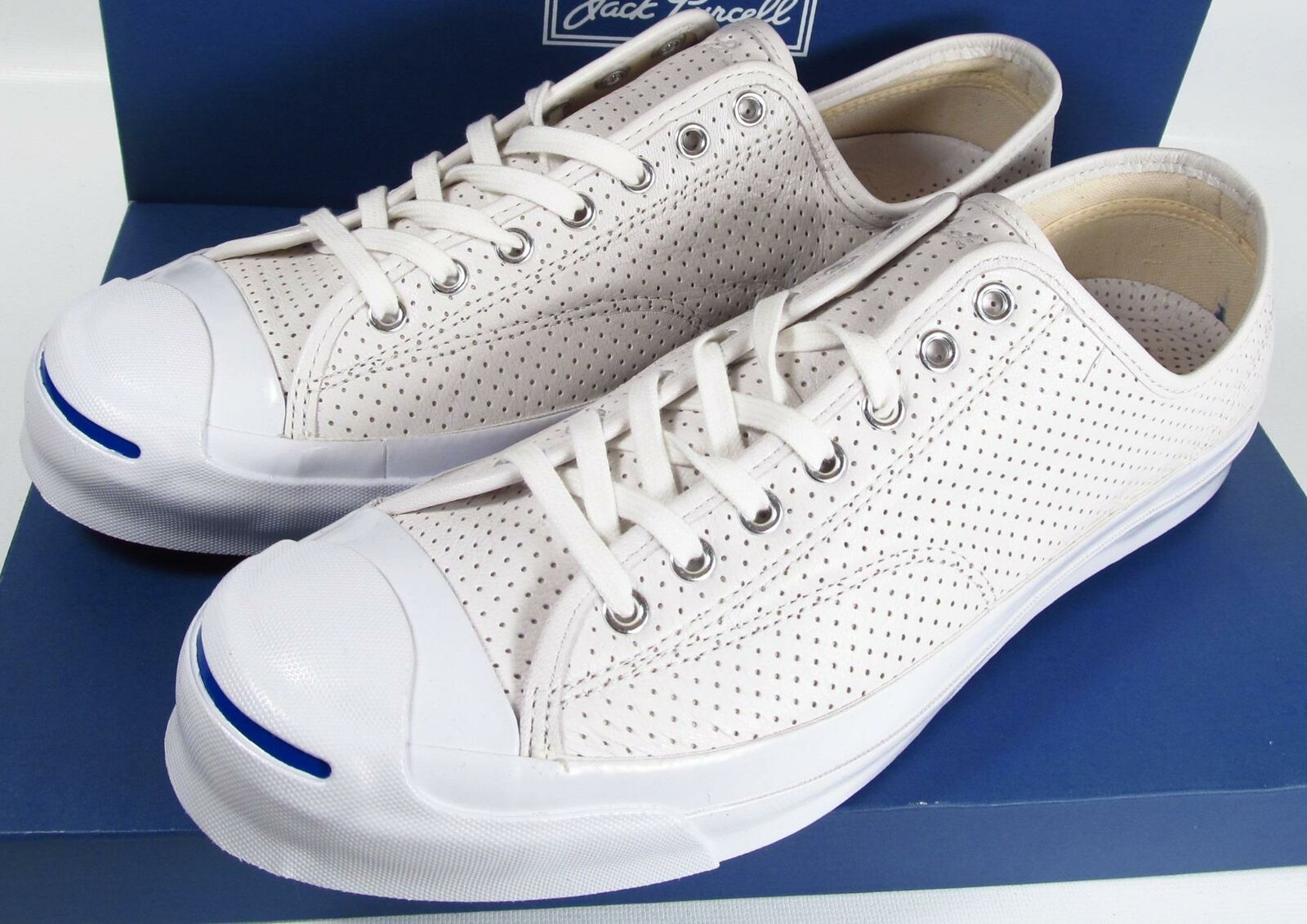 Converse Jack Purcell Signature Perforated Leather WHITE 151476C (11.5 Men's)