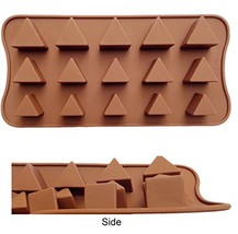 ADS Silicone Pastry Chocolate Cake Mold Baking Pan - Triangle - 15 Cavit... - $9.86