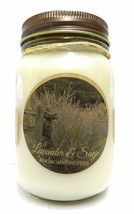 Mels Candles and More Lavender and Sage 16oz All Natural Soy Candle. Approximate - $17.70