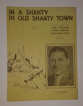 1932 IN A SHANTY IN OLD SHANTY TOWN SHEET MUSIC ABE LYMAN PHOTO - $9.50