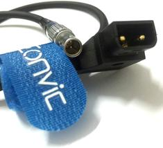 """Eonvic Cables- 18"""" D-TAP to 0B 2 pin Power Adapter Cable for Teradek Bond - $28.35"""
