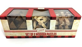 Wooden Puzzles Adult Toy Brain Teasers Cube/Twist Ages 9+ Set of 3 - $16.98