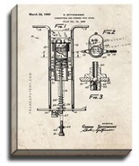 Combustible Gas Powered Pogo Stick Patent Print Old Look on Canvas - $39.95+