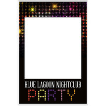 Colorful Nightclub Personalized Business Selfie Frame Poster - $16.34+