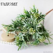 U&HOME 5 branches flowers plastic wedding decoration - $13.95