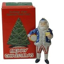 Vintage Patriot Santa Claus Porcelain Ornament Evolution Of The American... - $22.24