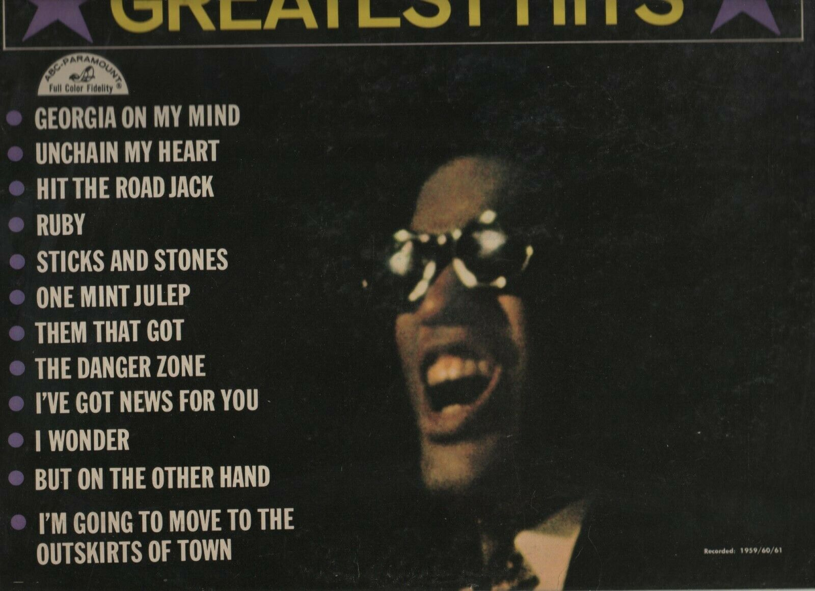 Ray Charles Greatest Hits - ABCS 415 - ABC Paramount - 1961 image 2