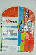 Adult Jolly Clown Costume Includes Jumpsuit and Hat Size Medium Halloween Party - $15.83