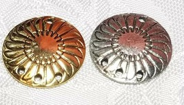 SHIELD ONE TO THREE HOLE FINE PEWTER EARRING PART 18 x 22 x 2mm image 2