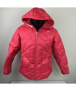 Vintage Nike Jacket ACG Goose Down Puffer Coat Women's Medium Pink Ski - $49.99