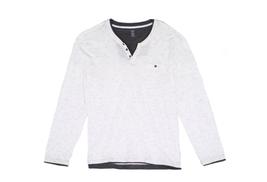 $40 INC Mens Pattern-Print Long Sleeve Henley Shirt, White Pure, Size 2XL - $14.84