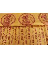 Hindu Religious Shawl Prayers SHREE RAM Mantras Yoga Dupatta /Chadar Cot... - $17.08