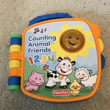 Fisher Price Counting Animal Friends 1234 Talking Musical Toy Book Lights Up - $12.99