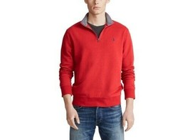 New Mens Red POLO Ralph Lauren 1/4 Zip Luxary Jersey Pullover Size L MSRP $89.50 - $41.87