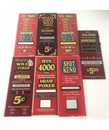 "Vintage Vegas Poker Slot Machine Art Glass Multiple Values 10.5""X4.25"" R... - $19.89"