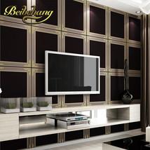 beibehang wall paper. Pune large square frame modern minimalist wallpaper living - $89.95