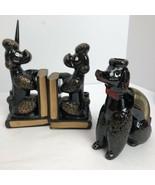 Windsor Japan Ceramic Poodle Pal Caddy Letter Holder Black Poodle Booken... - $47.03