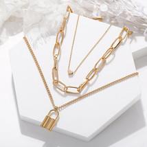 Fashion Layered Heart Pendant Choker Necklace Gold / Silver Women's Jewelry Gift - $12.73