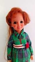 "Teenage Crissy Doll Green Dress 1972 Ideal Look Around Hair Grow 18"" Vin... - $29.99"