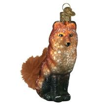 Vintage Inspired Fox Holiday Ornament Glass - $41.76