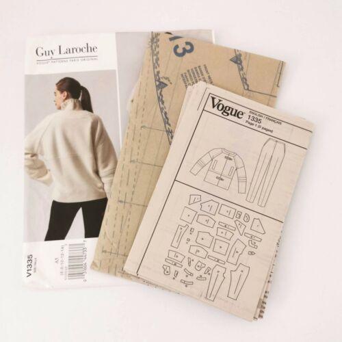 Vogue Pattern V1335 Size 6 8 10 12 14 Jacket Pants Guy Laroche Paris Original