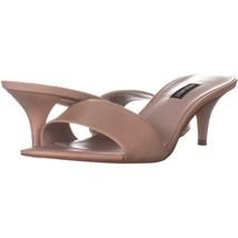 Nine West Lynton Slide Dress Sandals 111, Light Natural, 10.5 US - $28.79