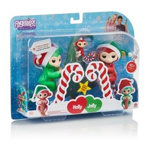 Wow Wee Fingerlings Interactive Baby Monkeys 2-Pack Mini Holly (Green), ... - $29.65