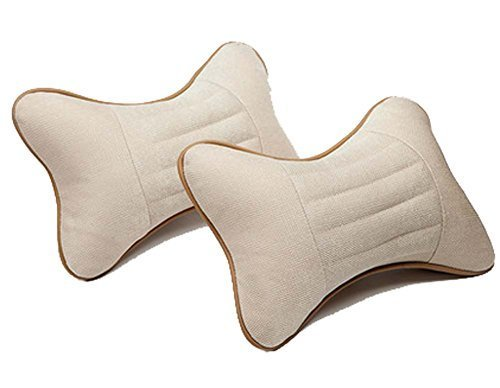 PANDA SUPERSTORE Auto Head Neck Pillow Beige Pillows Neck Pillow Car Pillows Hea