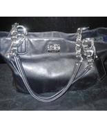 COACH MADISON Black Leather Satchel Bag 186668 - $99.99
