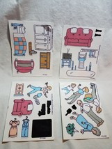 Colorforms Family CF-2180A-D Creative Play Toy Sheets 1990 - $9.89