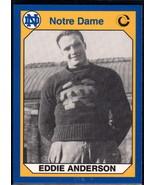 1990 Collegiate Collection Notre Dame #175 Eddie Anderson NM Near Mint - $0.75