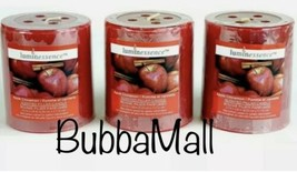 3 X Luminessence Apple Cinnamon Scented Pillar Candles, 2.5 In. X 2.8 In. - $13.85