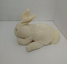 Russ Berrie Plush Home buddies cream beige bunny rabbit beanbag terry cloth - $22.27