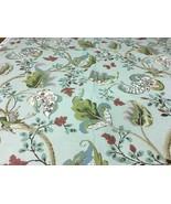 Schumacher J.H. Thorp Upholstery Fabric Fox Hollow Aqua Floral Print 5.2... - $249.38